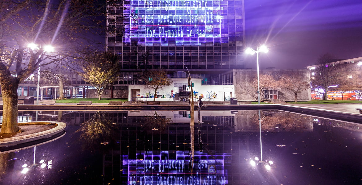 Plymouth Civic Centre Projection Mapping