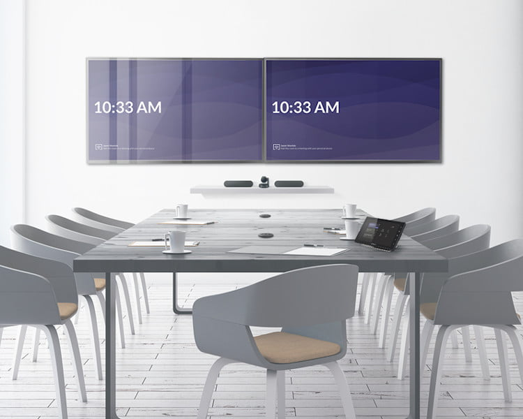 A well equipped unified communications eeting room